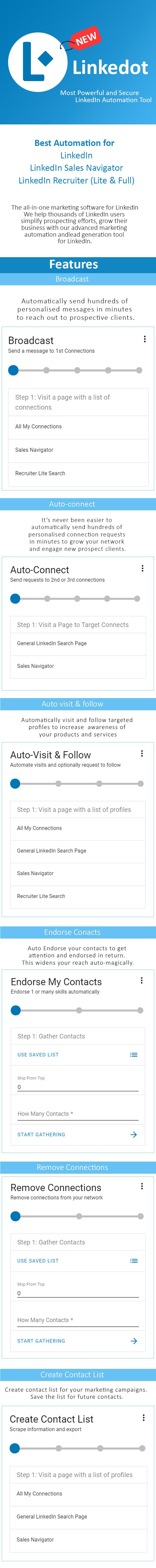 Linkedot - Linkedin Automation Tool - 2