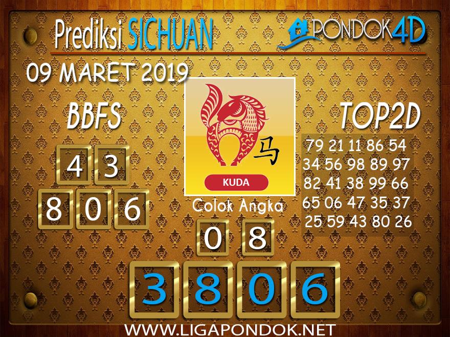 Prediksi Togel SICHUAN PONDOK4D 09 MARET 2019