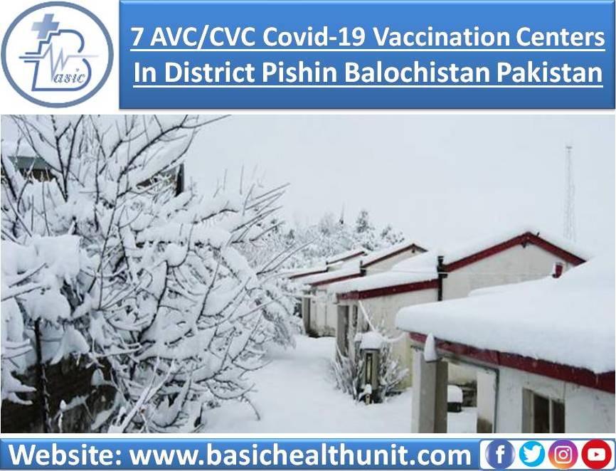 7 AVC/CVC Covid-19 Vaccination Centers In District Pishin Balochistan Pakistan