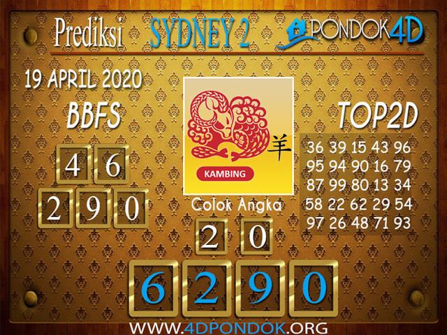 Prediksi Togel SYDNEY 2 PONDOK4D 19 APRIL 2020