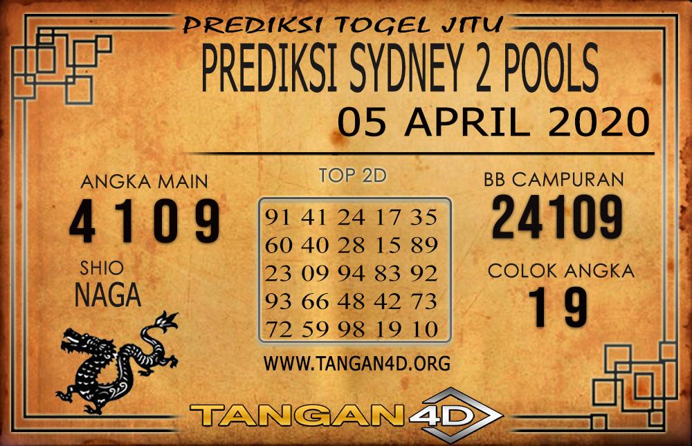PREDIKSI TOGEL SYDNEY 2 TANGAN4D 05 APRIL 2020