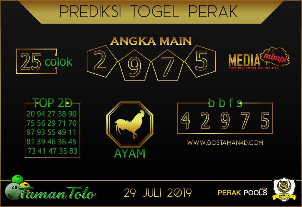 Prediksi Togel PERAK TAMAN TOTO 29 JULI 2019