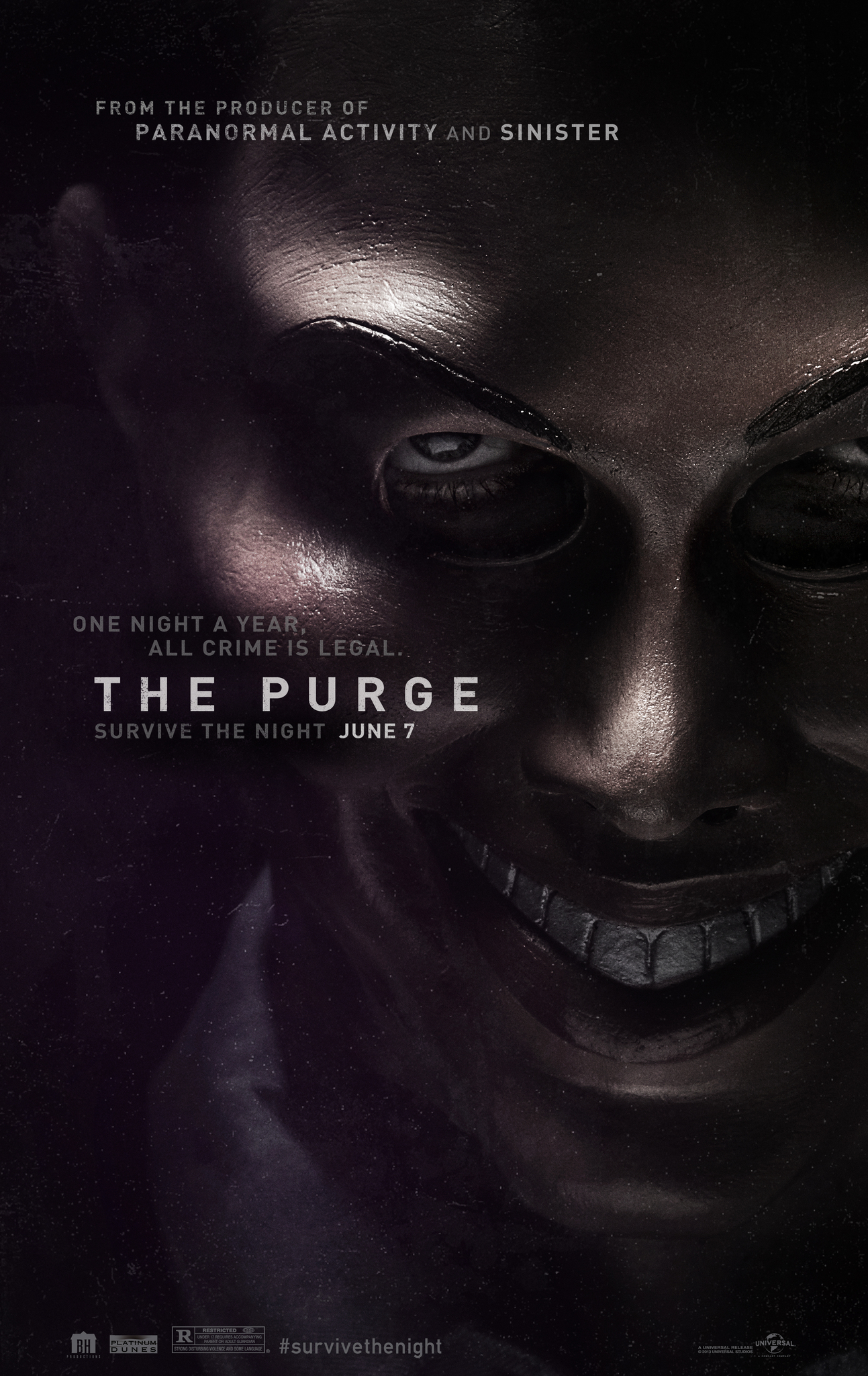The Purge 2013 Dual Audio 720p BluRay ESub 650MB | 300MB Watch Onli