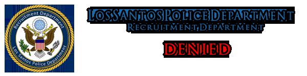 Pendaftaran LSPD || Jerry Walter Denied11