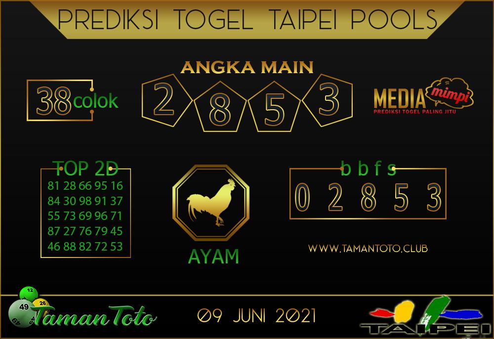 Prediksi Togel TAIPEI TAMAN TOTO 09 JUNI 2021