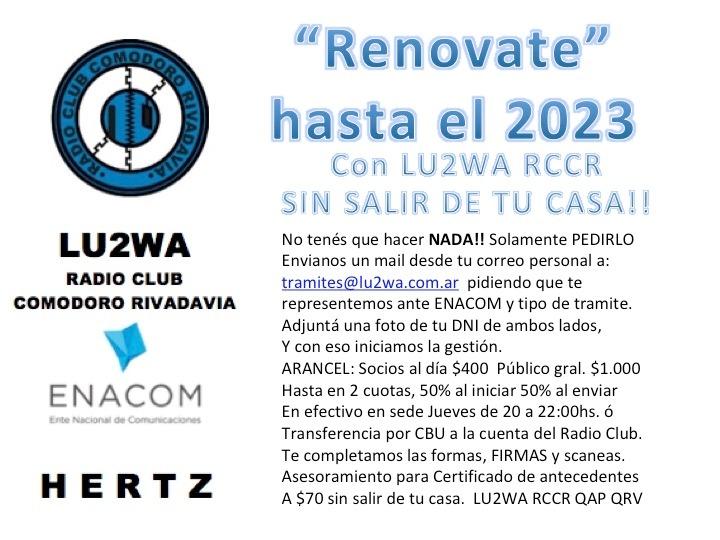 Renovación licencias periodo 2019-2023