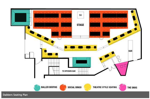 Dabbers Seating Layout!