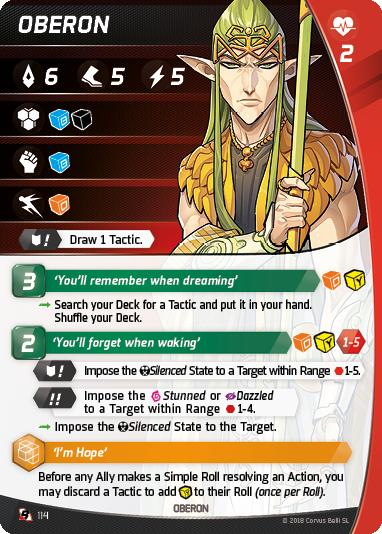 CBARI25 Character cards LEGENDARY BAHADURS OBERON EN