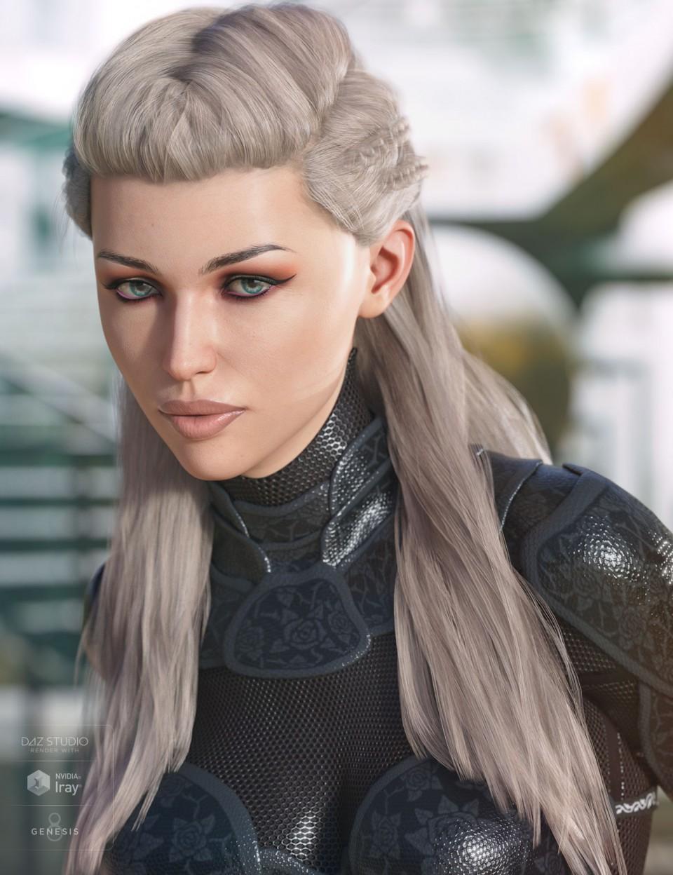 Evelyn Hair for Genesis 3 & 8 Female(s)