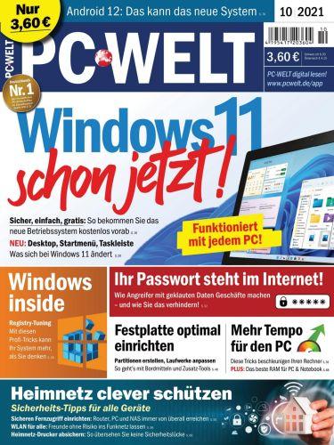 Cover: Pc Welt Magazin No 10 Oktober 2021