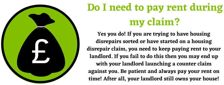 Paying rent during your claim