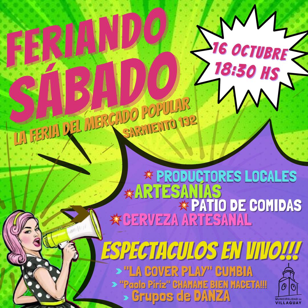 VUELVE EL FERIANDO SABADO!!! «La Feria el Mercado Popular»