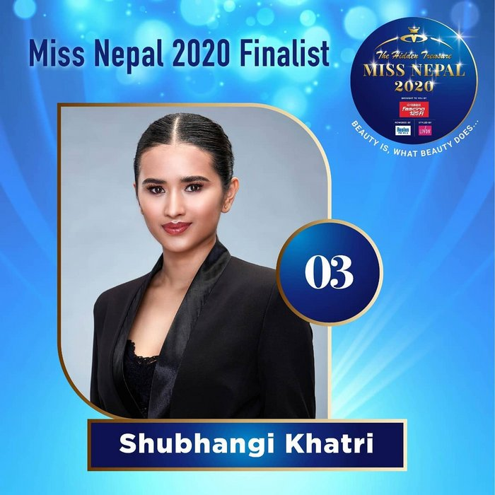 CANDIDATAS A MISS NEPAL 2020. FINAL 3 DE DICIEMBRE. 3-3