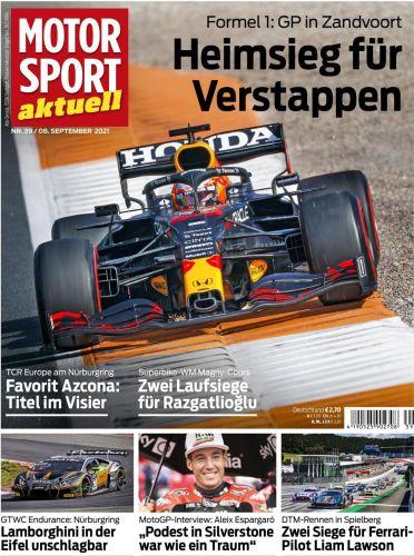 Cover: Motorsport Aktuell Magazin No 39 vom 08  Oktober 2021