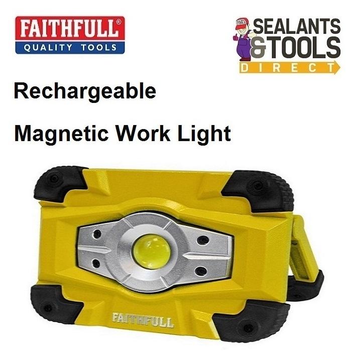 Faithfull Rechargeable LED Work Light & Power Bank FPPSLFF10WR