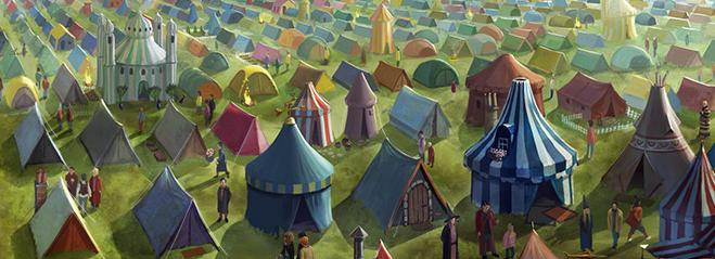 Jossa Tylypahkan Oppilaat Ylittävät Kanavan Tents