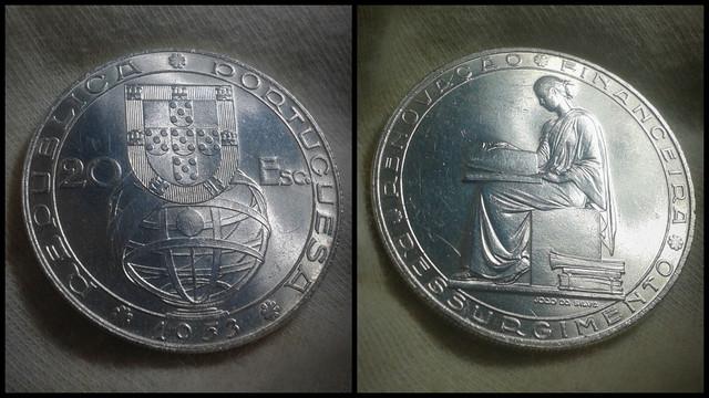 20 Escudos de 1953. Portugal. Polish-20210720-091255664