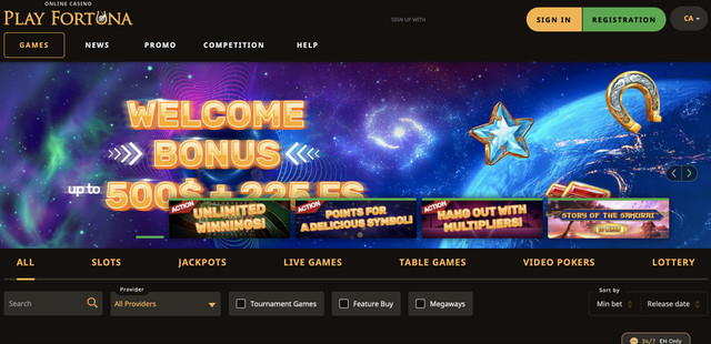playfortuna website casino