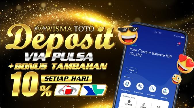 banner1_Deposit pulsa + BONUS TAMBAHAN 10% SETIAP HARI