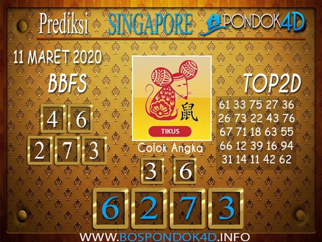 Prediksi Togel SINGAPORE PONDOK4D 11 MARET 2020