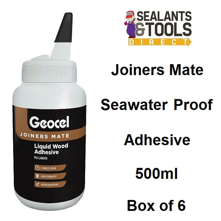 Geocel Joiners Mate 5 min PU Wood Adhesive 500ml Box 6