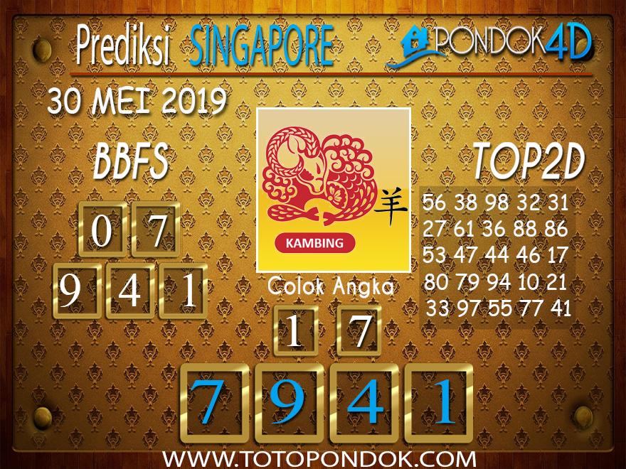 Prediksi Togel SINGAPORE PONDOK4D 30 MEI 2019