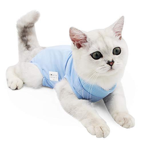 Traje de recuperación Profesional para heridas Abdominales o Enfermedades de la Piel, Alternativo para Gatos y Perros, después de la cirugía, Ropa para el hogar