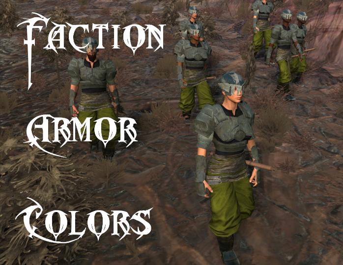 Faction Armor Colors - Better Colormaps / Различные цвета брони фракций