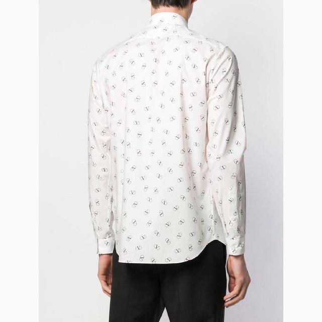 발렌티노 로고 프린트 셔츠