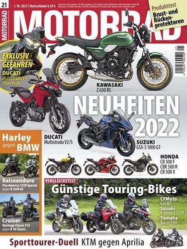 Cover: Motorrad Magazin No 21 vom 01  Oktober 2021