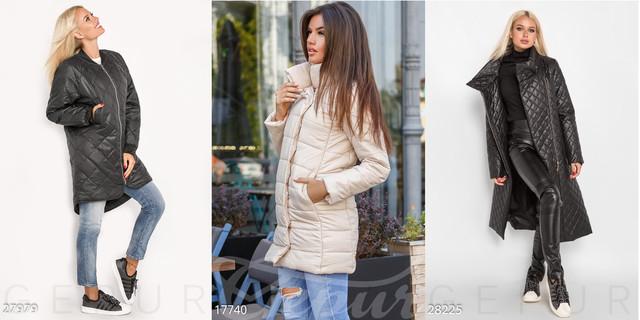 женские стеганые пальто фото