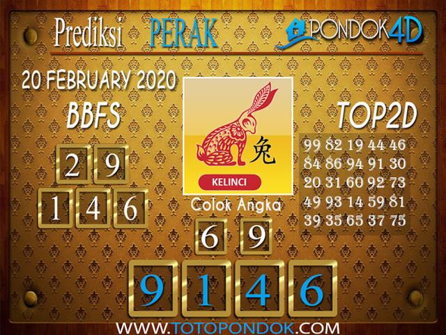 Prediksi Togel PERAK PONDOK4D 20 FEBRUARY 2020