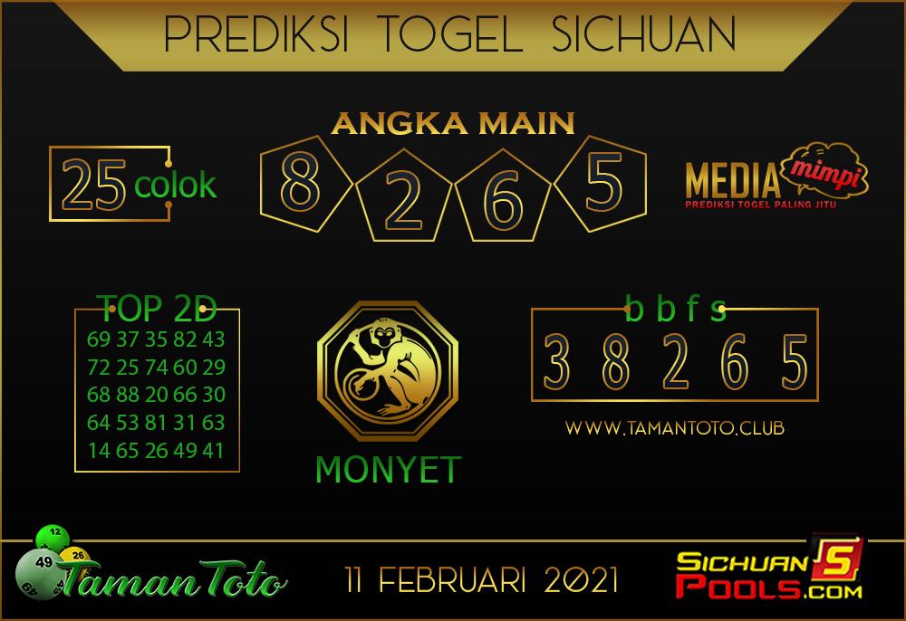 Prediksi Togel SICHUAN TAMAN TOTO 11 FEBRUARI 2021