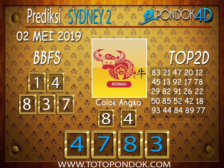 Prediksi Togel SYDNEY 2 PONDOK4D 02 MEI 2019