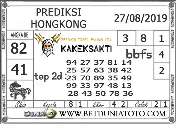 """Prediksi Togel """"HONGKONG"""" DUNIA4D 27 AGUSTUS 2019"""