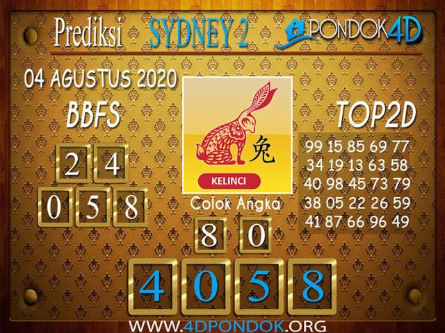 Prediksi Togel SYDNEY 2 PONDOK4D 04 AGUSTUS 2020