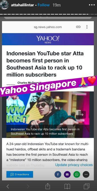 Atta Halilintar jadi sorotan media asing