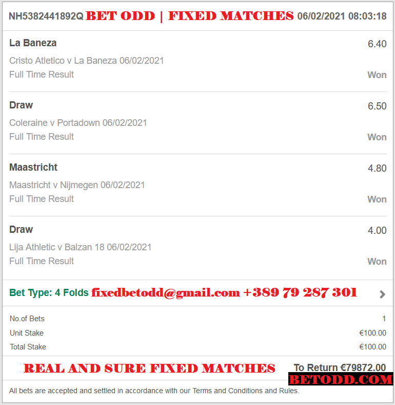 BET ODD PROOF FOR FIXED MATCHES