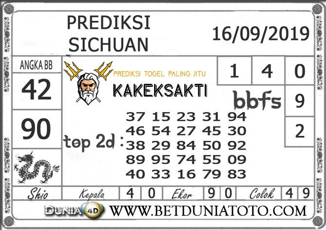 "Prediksi Togel ""SICHUAN"" DUNIA4D 16 SEPTEMBER 2019"