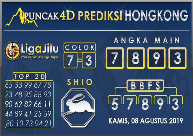 PREDIKSI TOGEL HONGKONG PUNCAK4D 08 AGUSTUS 2019