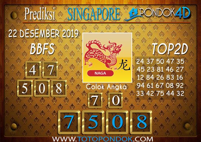 Prediksi Togel SINGAPORE PONDOK4D 22 DESEMBER 2019