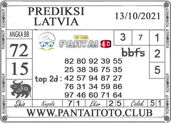PREDIKSI TOGEL LATVIA PANTAI4D 13 OKTOBER 2021