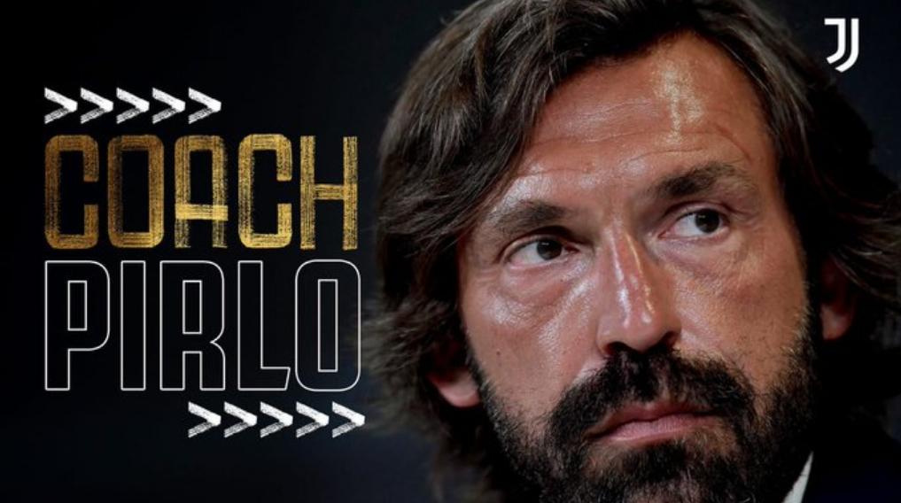Andrea Pirlo nuovo allenatore della Juventus.