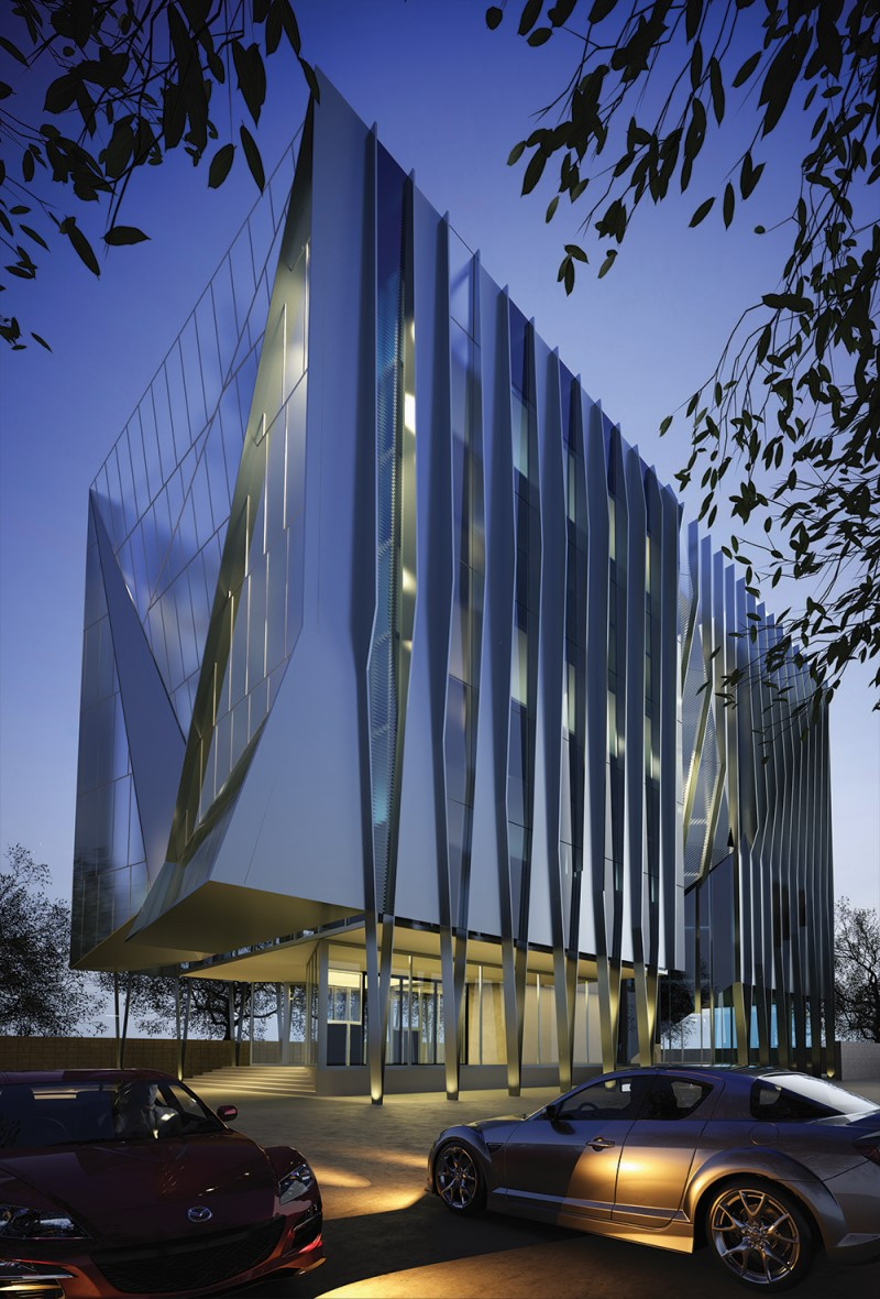 V Office Building Architecture Project
