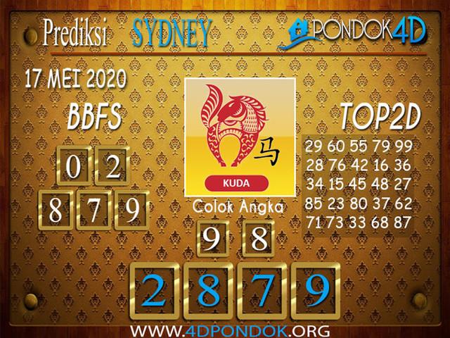 Prediksi Togel SYDNEY PONDOK4D 17 MEI 2020