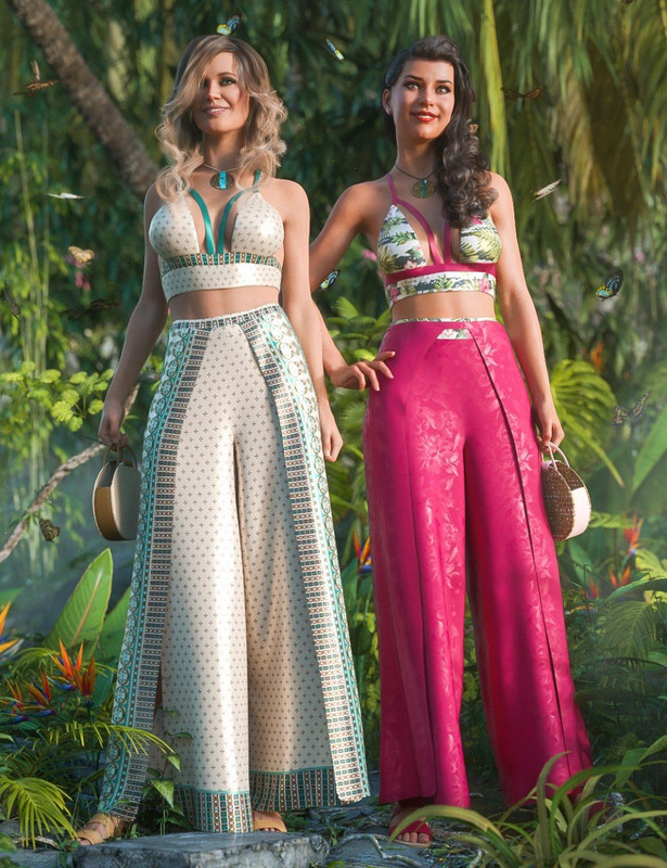 dForce Bali Babe Outfit Textures