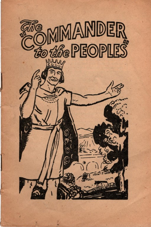 The Commander to the Peoples, Watchtower Bible and Tract Society; Picture Cover with No Attribution [Illustrator]
