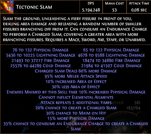 Forum - Marauder - [3 7] Rake's Tectonic Slam Equipment