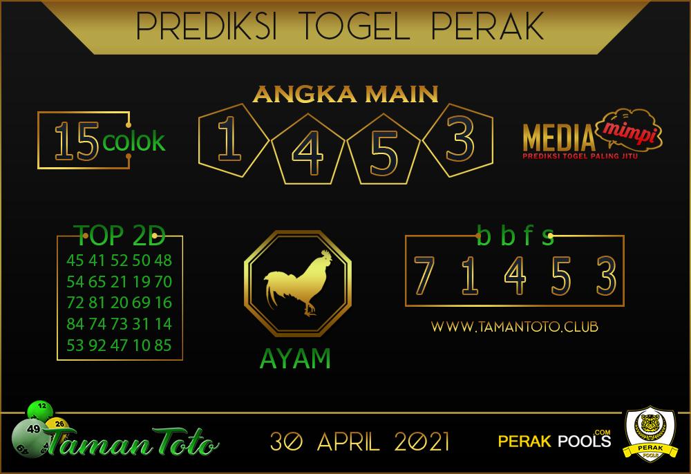 Prediksi Togel PERAK TAMAN TOTO 30 APRIL 2021