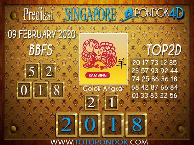 Prediksi Togel SINGAPORE PONDOK4D 09 FEBRUARY 2020